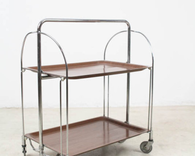 Chrome Tea Trolley