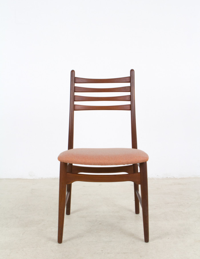 Single_Danish_Teak_Chair_with_Coral_Upholstery_1960s-1