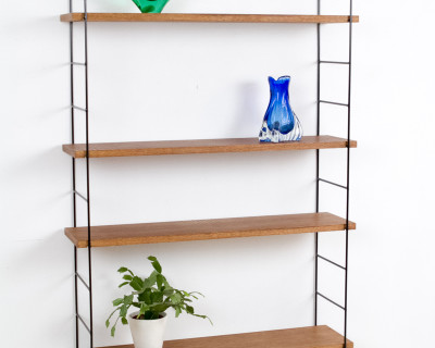 Large Size Black Panni Frame with Walnut Shelves (4)