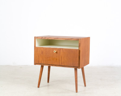 Walnut Bed Side Table Completely Restored , 1960s
