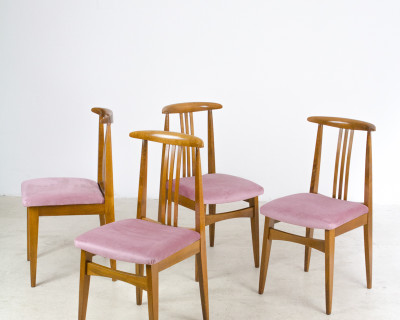Lovely Freshly Upholstered Hungarian Dining Chair (4 pieces available)