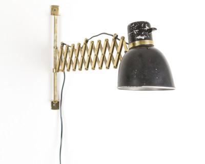 Very Rare Scissor Lamp with Brass Details
