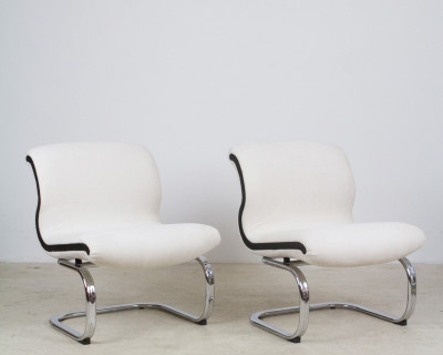 Chrome Lounge Chairs form the 70's