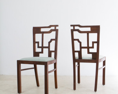 Very Rare Geometric Art Deco Chairs