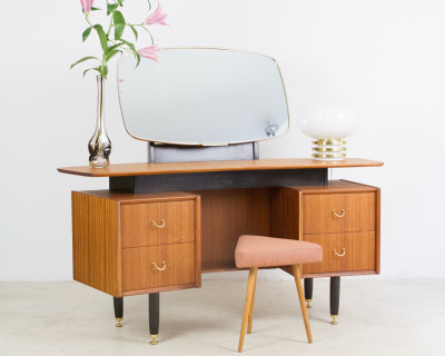 Restored G-Plan Dressing Table with Adjustable Mirror, 1960s