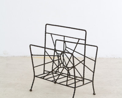 Iron Magazine Rack with Sunlight Motives