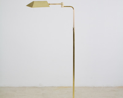 Beautiful Copper Floor Lamp with Adjustable Head, 1950s