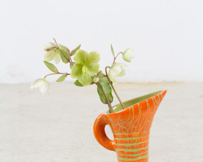 Orange Vase by Geza Gorka