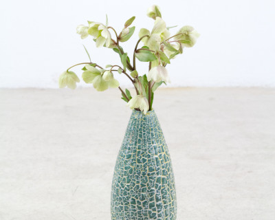 "Signed Ceramic ""Cucumber"" Vase"