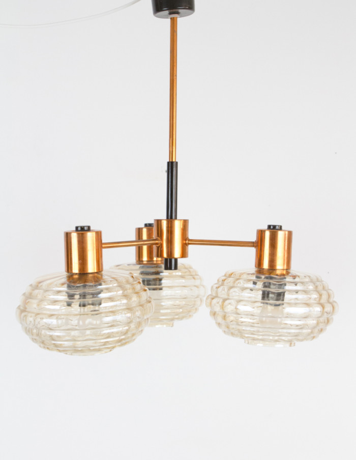 Mid-Century_Chandelier_with_Copper_Parts -1