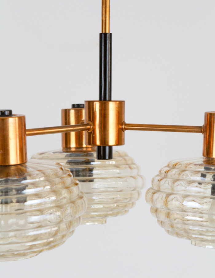 Mid-Century_Chandelier_with_Copper_Parts -2