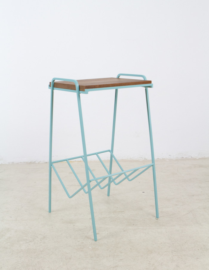Turquoise_Iron_Side_Table_with_Walnut_Top_1960s-5