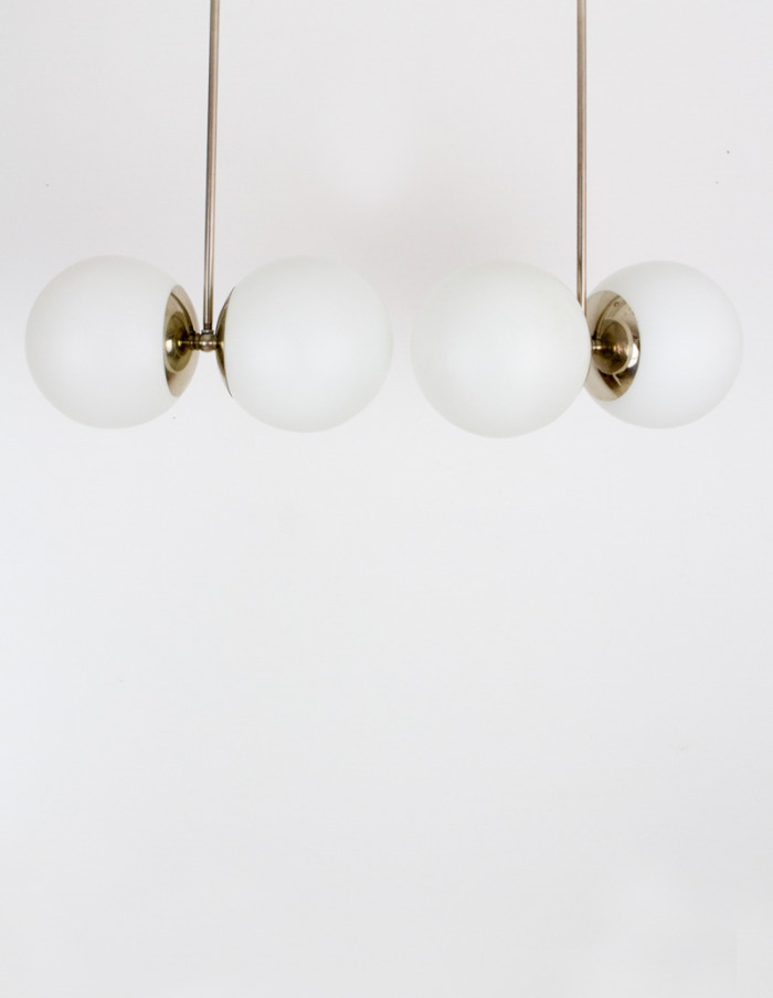 Bauhaus Pendant with Two Glass Shades-4