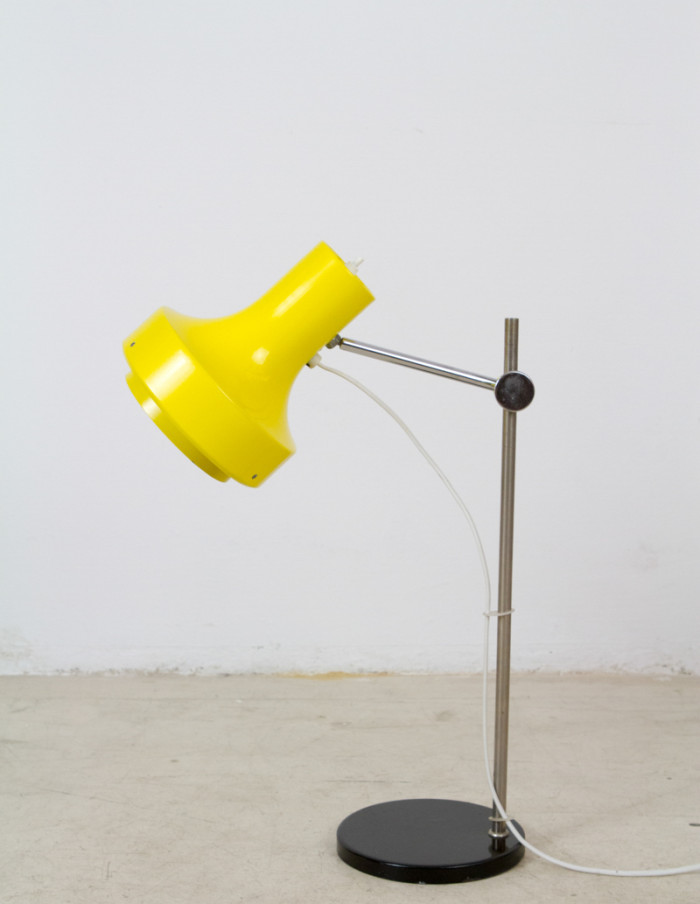 Black & Yellow Adjustable Table Lamp, 1970s-2