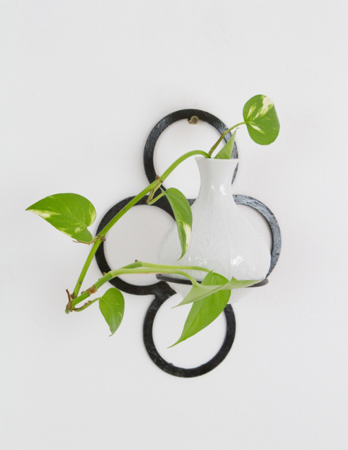 Iron Wall Plant Holder, 1960s -5