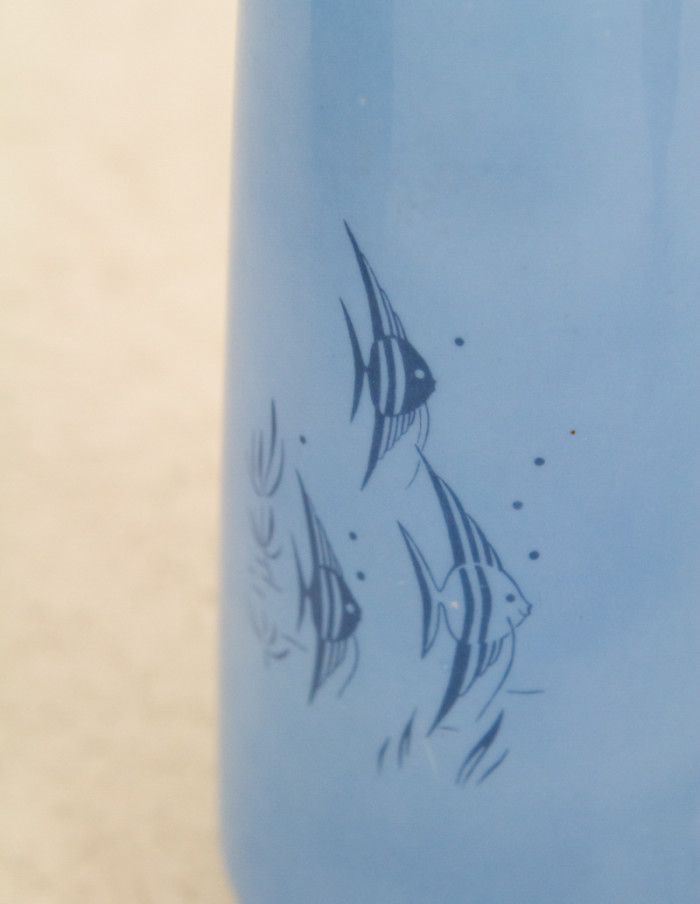Metzler&Ortloff Blue Vase with Fish Motifs-3