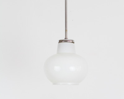 Mid-Century Milk Glass Pendant