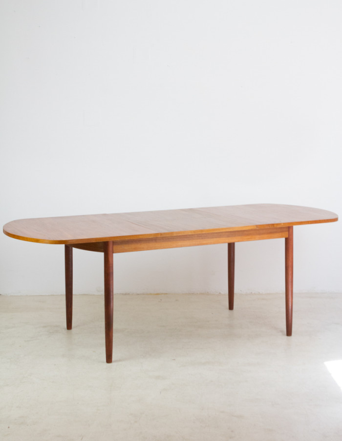 Perfectly Restored Danish Extendable Dining Table -11