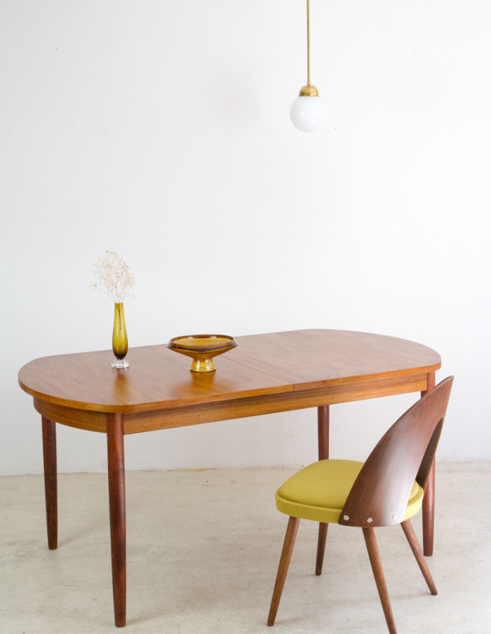 Perfectly Restored Danish Extendable Dining Table -17