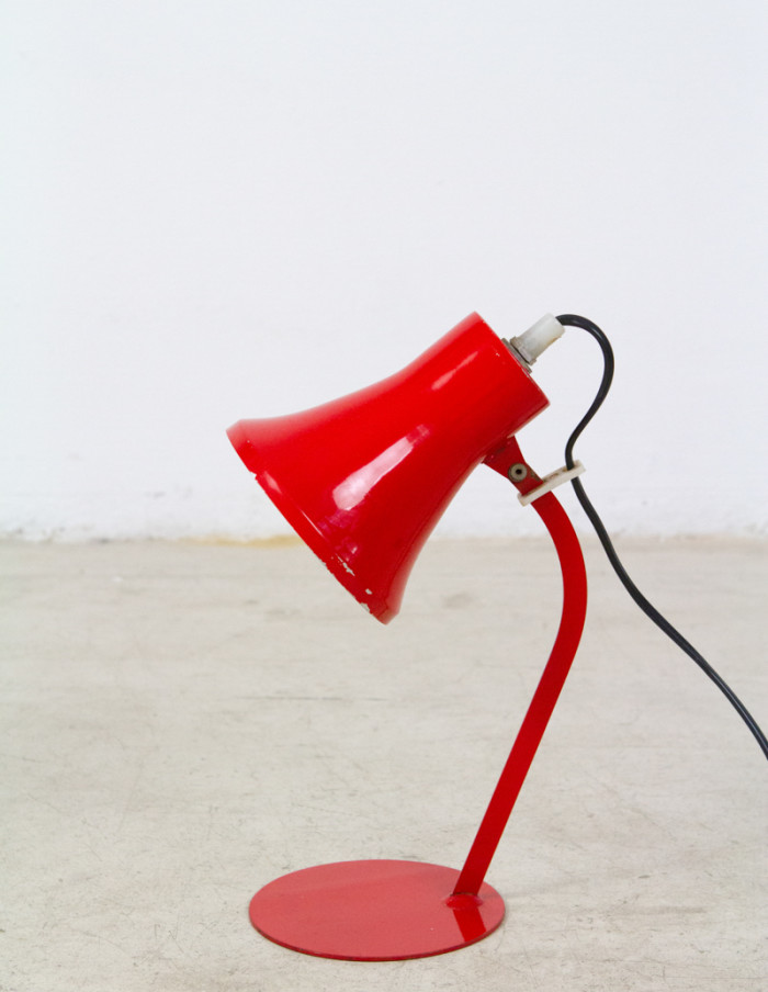 Tiny Fiery Red Desk Lamp -1