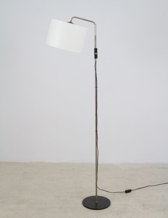 Adjustable Floor LAmp with New Shade, 1970s-1