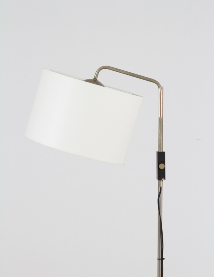 Adjustable Floor LAmp with New Shade, 1970s-2