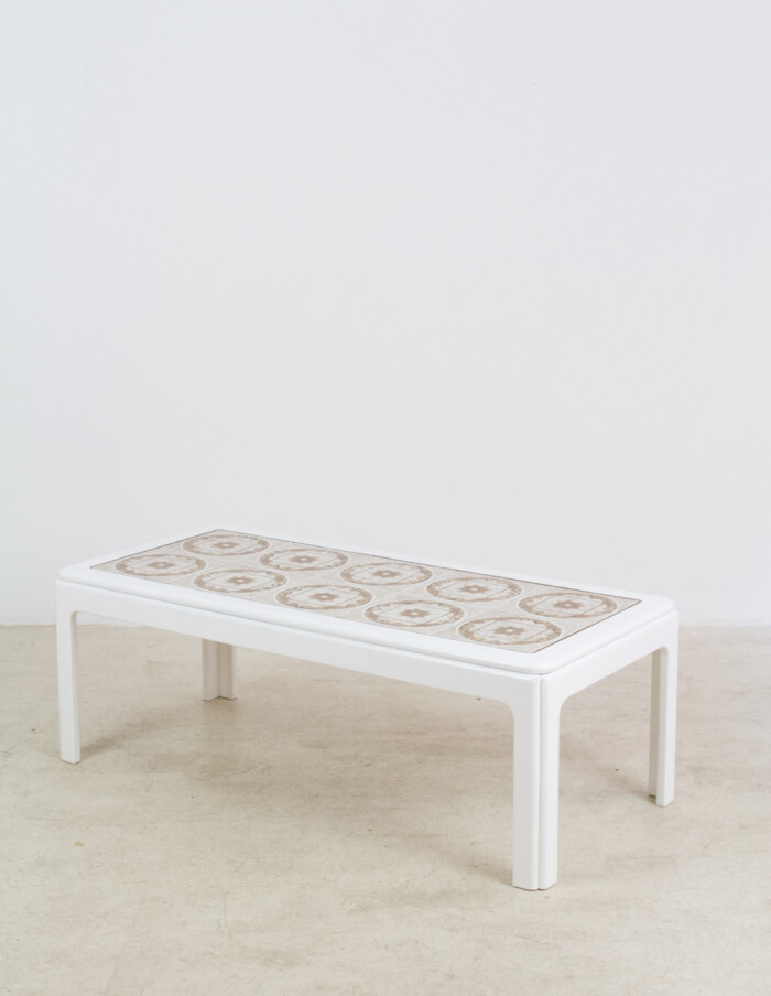 English Nathan Coffee Table with Artisan Tile Top, 1970s-12