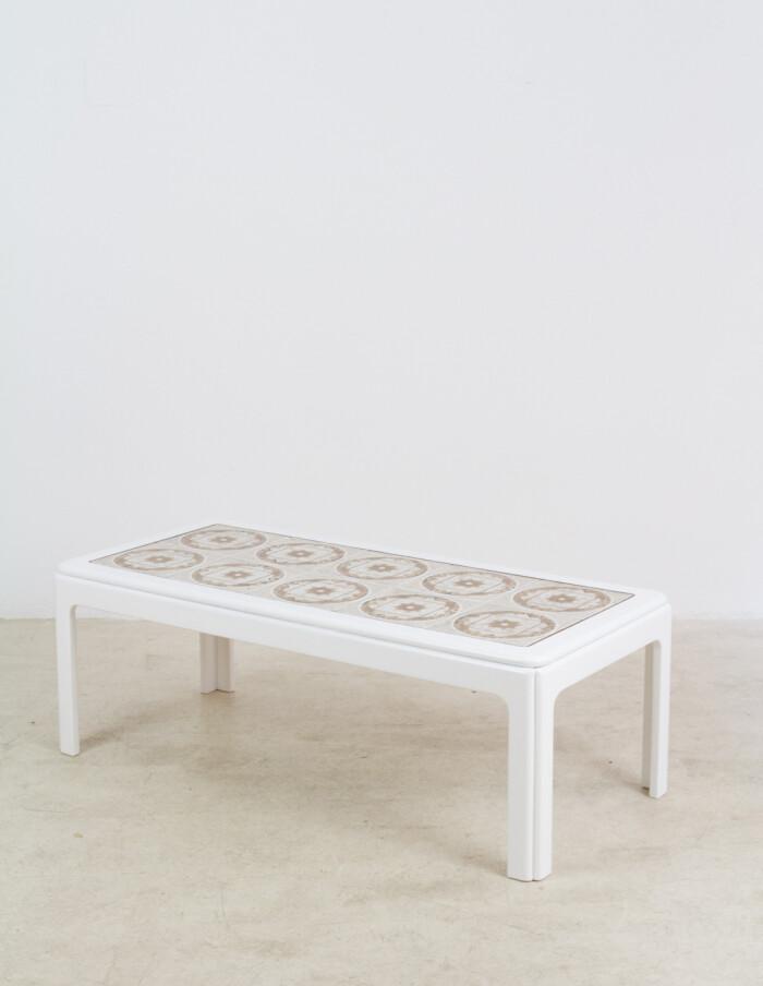 English Nathan Coffee Table with Artisan Tile Top, 1970s-12