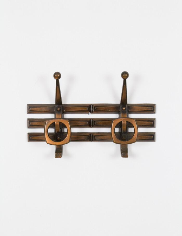 Mid-Century Brass Wall Hanger-1