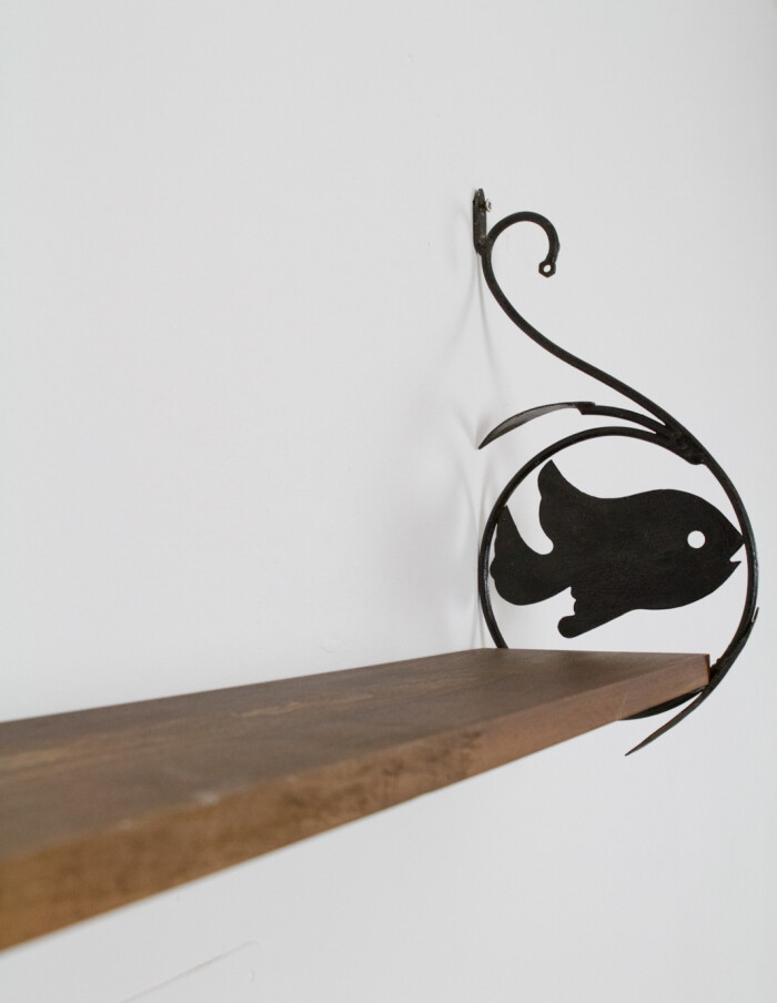 Rare Shelf with Fish Motifs-6
