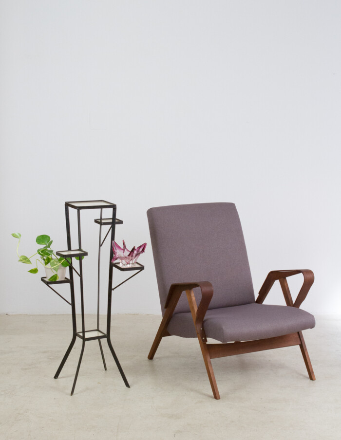 Restored Tatra Armchair with Fresh Upholstery-19