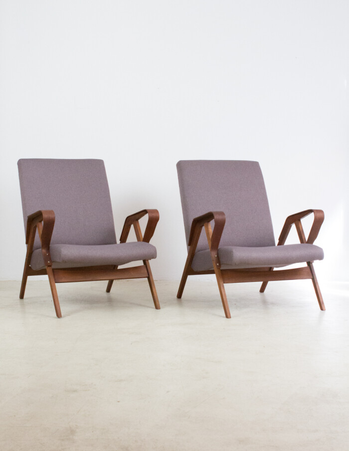 Restored Tatra Armchair with Fresh Upholstery-2