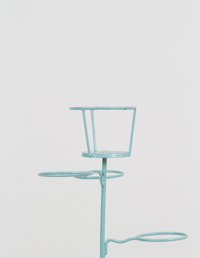 Tourquise Standing Plant Stand, 1960s-1