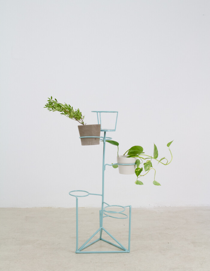 Tourquise Standing Plant Stand, 1960s-2