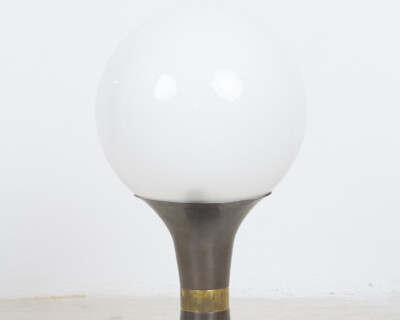 Artisan Table Lamp with Giant Milk Glass Shade