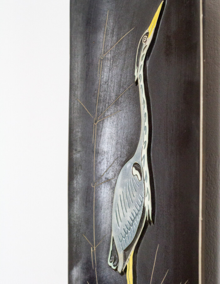 Ceramic Wall Decoration with Bird Motifs -5