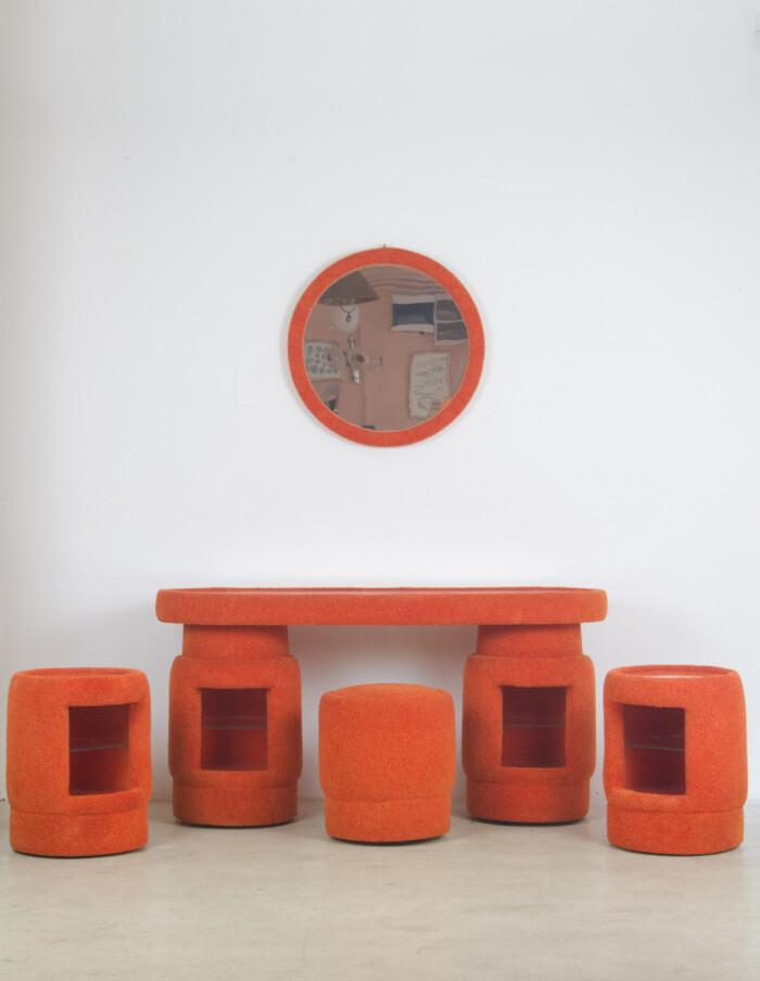 Funky Orange Dressing Table Set-1