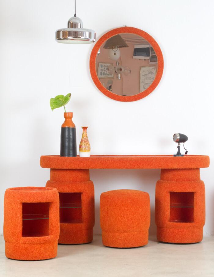 Funky Orange Dressing Table Set-21