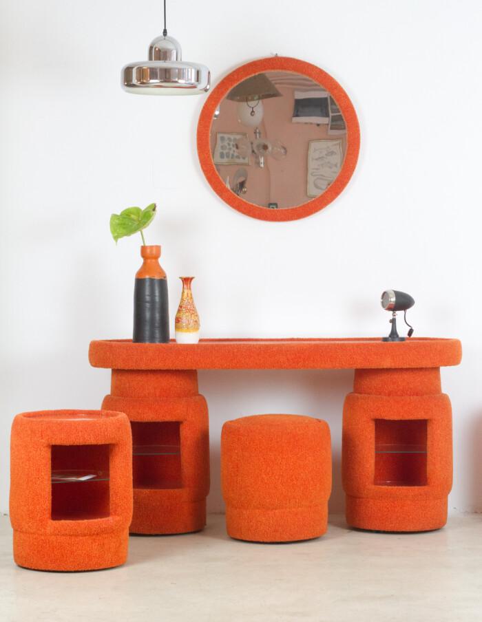 Funky Orange Dressing Table Set-25