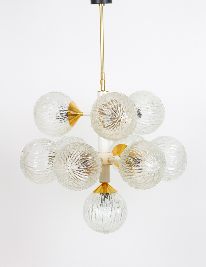 Giant Sputnik Chandelier with 10 Glass Shades-1