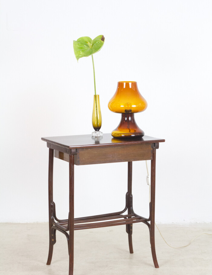 Restored Thonet Side Table with Draw-11