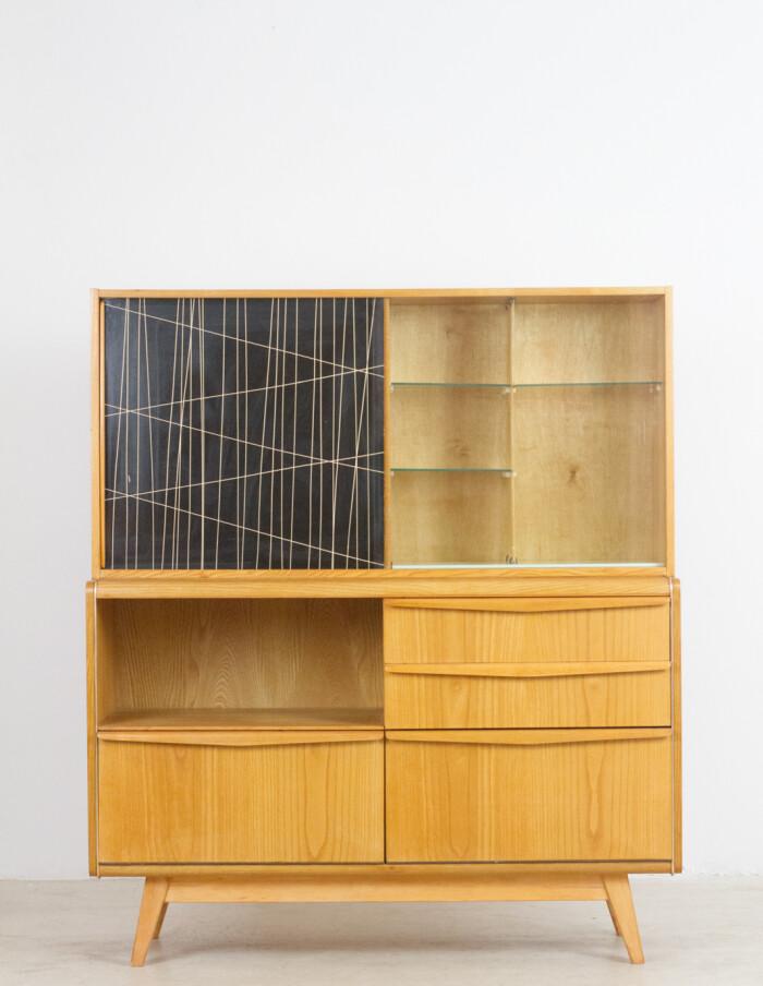 Restored Wooden Sideboard by Bohumil Landsman for Jitona, 1960's-1