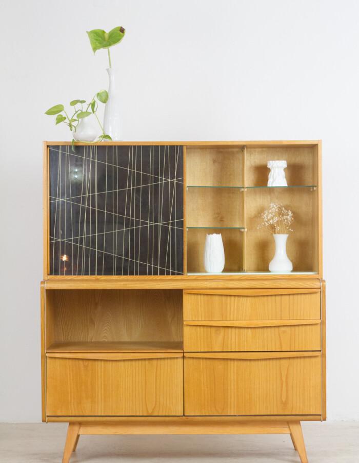 Restored Wooden Sideboard by Bohumil Landsman for Jitona, 1960's-16