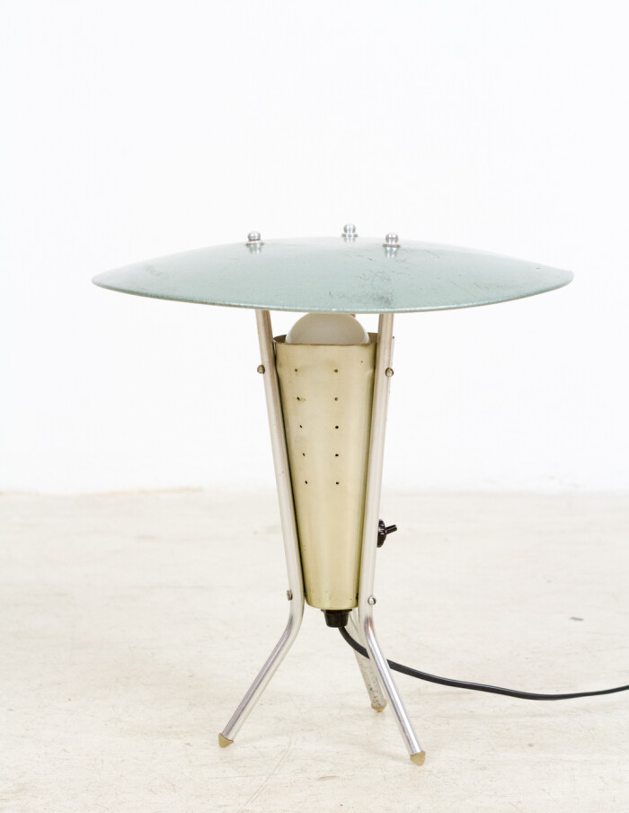 Space Age, Aluminium Desk Lamp, 1950-2