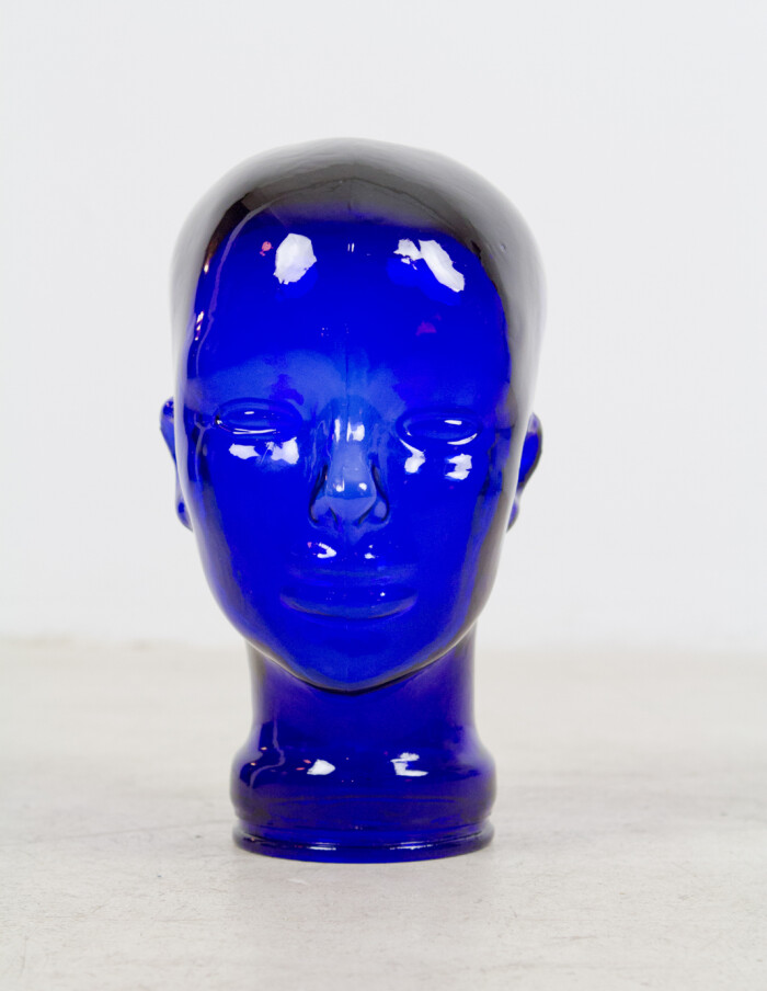 Blue Glass Head -2