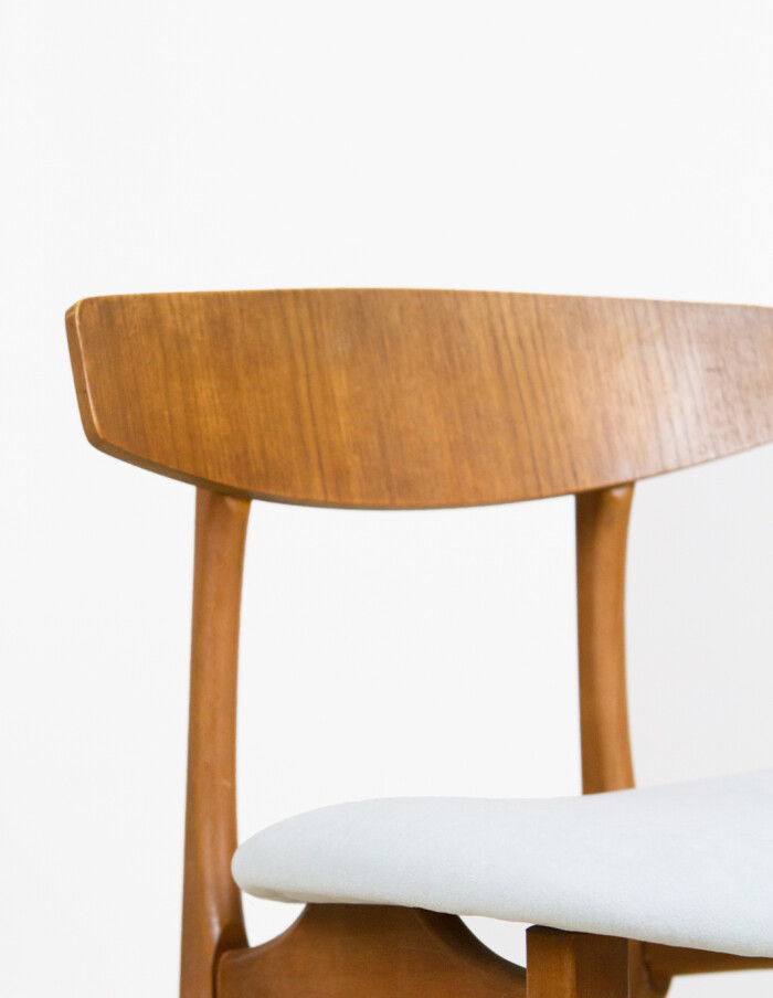 Danish Dining Chair from the 70's with fresh upholstery -2