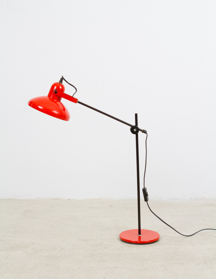 Fiery Red Adjustable Table Lamp, 1970's -1