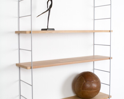 Grey and Oak Panni shelf Perfectly Restored