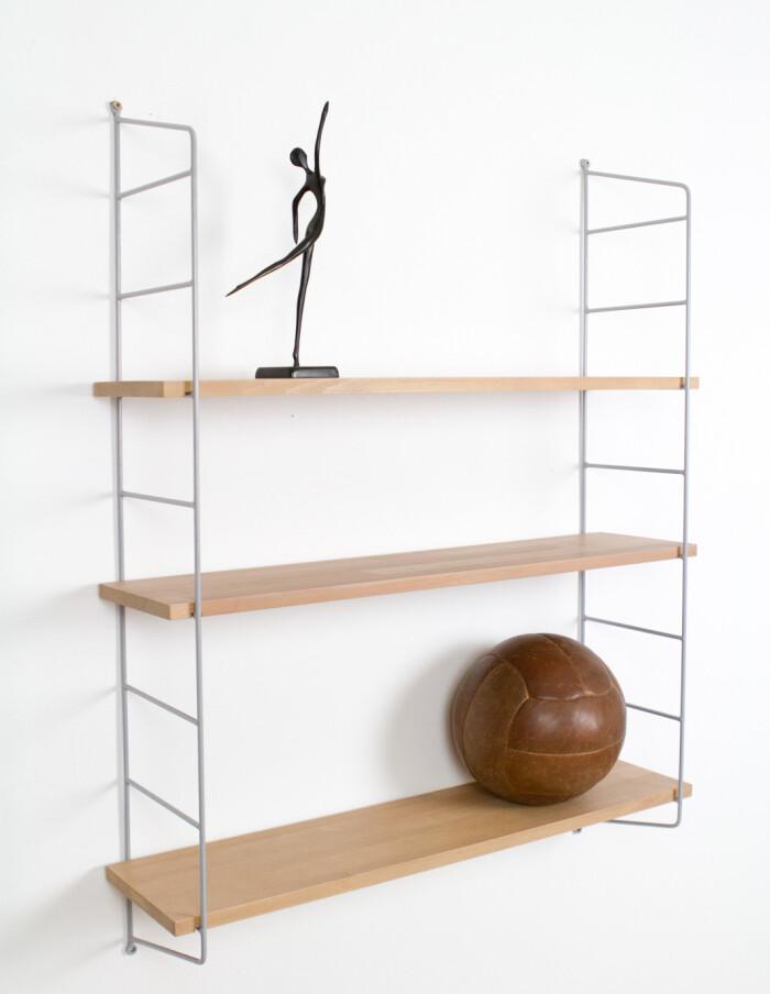 Grey and Oak Panni shelf Perfectly Restored -10