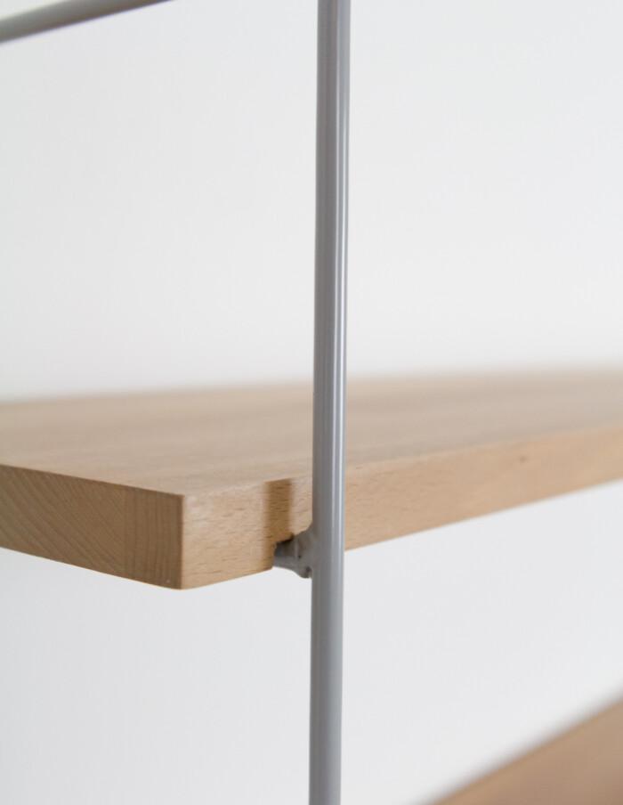 Grey and Oak Panni shelf Perfectly Restored -8